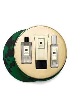 Free shipping and returns on Jo Malone London™ A Festive Affair Collection at Nordstrom.com. What it is: A three-piece set of party-season saviors wrapped up with festive finesse.Collection includes:- Wood Sage & Sea Salt Body & Hand Wash (3.4 oz.): alive with the mineral scent of the rugged cliffs, this refreshing, conditioning wash blends the woody earthiness of sage with the sea, conjuring images of breaking waves and air fresh with sea salt and spray.- Geranium & Walnut Hand C...