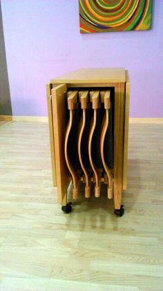 Capacidad para 4 sillas