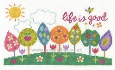 Shop online for Life if Good Cross Stitch Kit at sewandso.co.uk. Browse our great range of cross stitch and needlecraft products, in stock, with great prices and fast delivery.