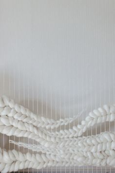 Innovative Weaving with wool for braid-like structures & white textures; textiles design // Jeannie Helzer