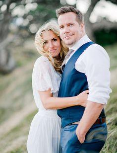 Bride and groom. Bohemian-inspired New Zealand elopement. Dreamy, romantic. Nadia Meli Photography. Location: Waiheke Island, New Zealand