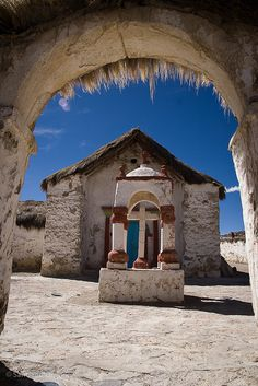 Church in Parinacota, Chile by Zalacain Travel Around The World, Around The Worlds, Amazing Places On Earth, Exotic Beaches, Cathedral Church, Old Churches, Place Of Worship, Chapelle, Padua