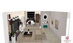 Construindo Minha Casa Clean: Consultoria de Decoração: Salas Integradas Compridas com Projeto 3D!