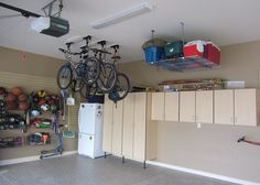 Garage Storage Ideas | Garage Storage Ideas for Small Space : Stunning Bike Garage Storage ...