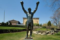 The Italian Stallion, cast in bronze outside of the Philadelphia Museum of Art    (Credit: By J. Smith for GPTMC)