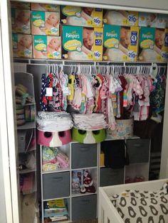 My Twinu0027s Nursery Closet Organized!