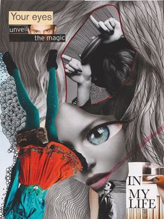 the magic by Piia Myller Collage Artists, Collages, Original Art, Magic, Illustration, Artwork, Movie Posters, Design, Work Of Art
