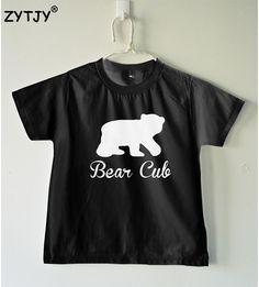 94f99177b9d Bear cub Print Kids t shirt Boy Girl shirt Casual Children Toddler Clothes  Funny Top Tees Drop Ship Z 7-in T-Shirts from Mother   Kids on  Aliexpress.com ...