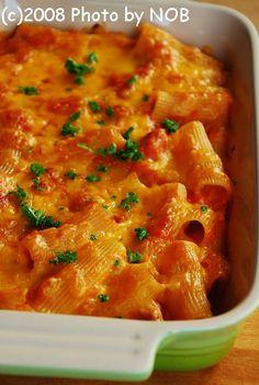 リガトーニ de ボロネーゼ - Naturalレシピ NOBの厨房 お皿にとりわけて・・・