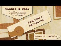 JAK NAPISAĆ ROZPRAWKĘ - wskazówki – streszczenie i opracowanie lektury - nauQa.pl - YouTube Youtube, Literatura, Polish, Youtubers, Youtube Movies