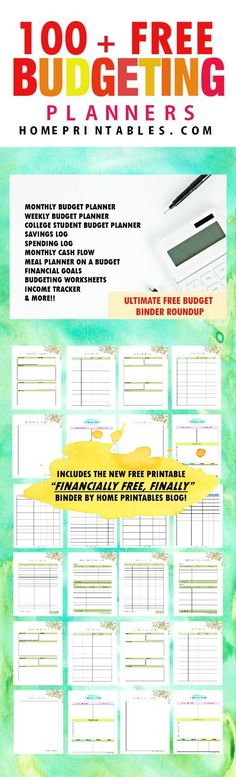 Get your finances in order with these Simple Printable Budget - free printable budget planner