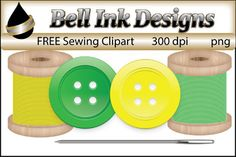 There are 5 color images in this file:1 green button1yellow button1 green spool of thread1 yellow spool of thread1 needle.All images are 300 dpi and in png format.Commercial use ok.....please see TOU for a full description of how images may be used.