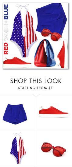 """""""Red White Blue Love"""" by interesting-times ❤ liked on Polyvore featuring Milly, Givenchy and fourthofjuly"""