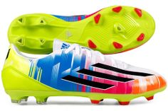 F10 TRX FG Messi Football Boots Running White/Black/Solar Slime £49.99 Summer boots