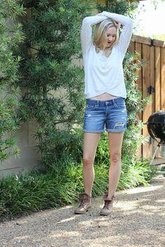 Cute distressed boyfriend jean shorts
