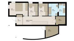 Ura, et funkishus for skrå tomt med carport Floor Plans, Pictures, Floor Plan Drawing, House Floor Plans