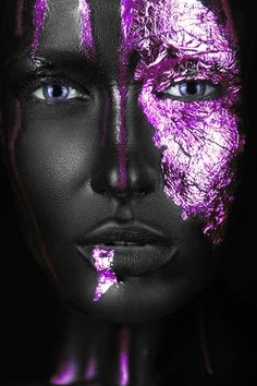 Poster online bestellen bij Wall Art 4 You Poster Store Sexy Black Art, Black Girl Art, Black Women Art, Uv Makeup, Makeup Art, Black Art Painting, Body Painting, Awareness Tattoo, Lashes Logo