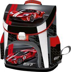 Ergonomická školské tašky Premium Ford GT.    Hmotnosť: 1020g, objem: 17 l Vysoko kvalitná školská taška pre triedy 1 a 2 Odolný, nepremokavý materiál Bočné výstuže a tvrdá plastová podrážka zvyšujú odolnosť, ľahko sa čistia Ergonomicky navrhnutý, mäkký, hubovitý podklad, ktorý šetrí chrbticu S pomocou ucha môže byť taška držaná v ruke alebo zavesená Priestranný interiér s prepážkami, plastové vrecko na cestovný poriadok Sieťové bočné vrecká na fľašu Ergonomické školské tašky Ford Gt, Baby Car Seats, Children, Box, Young Children, Boys, Snare Drum, Kids, Child