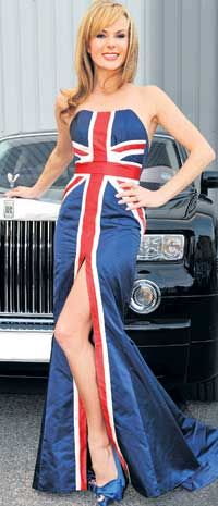 Union Jack evening gown