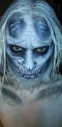 "Game of Thrones White Walker Makeup Transformation- Fantastic transformation by ""Makeup By Tiffany Aiello"" on Facebook, and @Tiffybopp on Youtube and Google+"