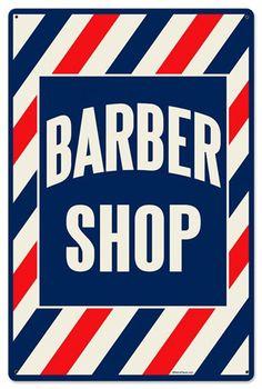 Barber Shop 24 x 16 Metal Sign | Man Cave Kingdom