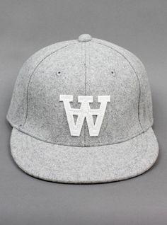 WOOD WOOD Logo Wool Cap Grey Melange #cap #woodwood #woolcap