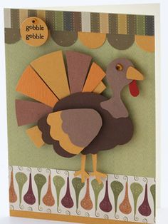 Turkey for Thanksgiving card or scrapbook page