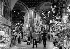 Kapalıçarşı, meaning 'Covered Bazaar'; also Büyük Çarşı, meaning 'Grand Bazaar', Istanbul, Turkey.