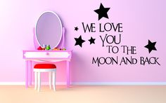Wall Room Decor Art Vinyl Sticker Mural Decal Love You Quote Poster Phrase AS1176