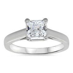 Princess Cut Solitaire Engagement Ring - Kim