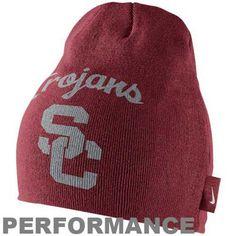Nike USC Trojans Training Performance Knit Beanie - Cardinal  #UltimateTailgate #Fanatics