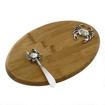 Crab Cheese Board and Spreader Set