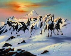 Looks like a painting be Bev Doolittle