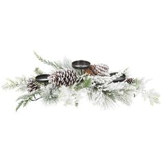 A by Amara Snow Pine Votive Holder ($69) ❤ liked on Polyvore featuring home, home decor, candles & candleholders, green, green pillar candles, pine cone candle holders, branch candle holder, tree branch candle holders and christmas votive candle holders