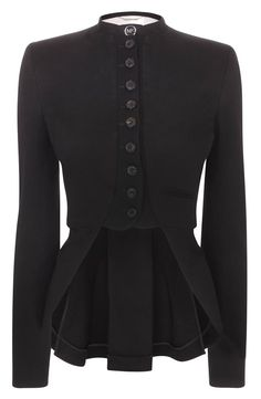Alexander McQueen Black Tailcoat Jacket $690.00