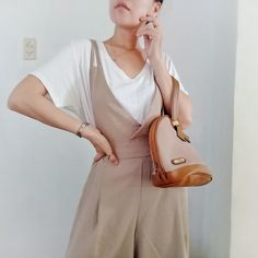 Dress Up Diary, Trendy Dresses, I Dress, Thrifting, Jumpsuit, Beige, Cute, Accessories, Fashion