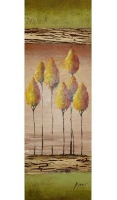 Original Signed Tall Art Paintings - Trees - Various Choices