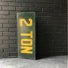 Vintage Industrial 2 TON Metal Painted Sign Truck Trucker Stop