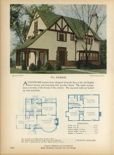 The DORRIS - Home Builders Catalog: plans of all types of small homes by Home Builders Catalog Co. Published 1928