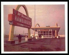 Photo of the first McDonald's built in Marion by Robert & Charles Terhune. Lorence Hartgraves bought the McDonald's in Notice that it didn't have a drive- through. The first drive-through wasn't added until the Marion High School, Marion Indiana, Oak Hill, Local History, Old Pictures, Great Photos, Vintage Photos, Florida, Outdoor Structures