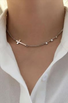 925 Sterling Silver Clavicle Chain Necklace for Women Gift for: AcceptableMom, Wife, Girlfriend, Daughter Occasion:Anniversary,Engagement,Gift,Party,Wedding Environmental Standard: Allergy free, Lead, Nickel, Cadmium free Makings:925 Silver Metal Stamp: 925/S925 Fine or Fashion:Fine Style:Trendy Shape\pattern: Geometric Item Type: Necklaces Chain Type: Link Chain Occasion: Party Metal Stamp: 925,Sterling Metals Type: SILVER Main Stone: NONE Gender: Women Necklace Type: Chains Necklaces