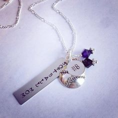 """Sporty Girl """"Softball Mom"""" Hand Stamped Personalized Necklace on Etsy, $23.00. But baseball instead."""