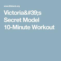 Victoria's Secret Model 10-Minute Workout