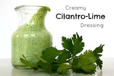 The Garden Grazer: Creamy Cilantro-Lime Dressing. Sub avocado for the yogurt.