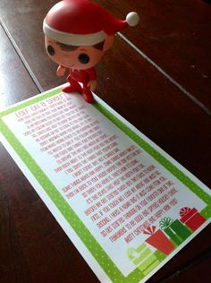 The Elf On The Shelf Day 1..... FREE Elf Story