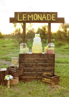 New wedding entertainment ideas for 2016. A lemonade booth. Wings of Glory Photography #wedding #decor #reception