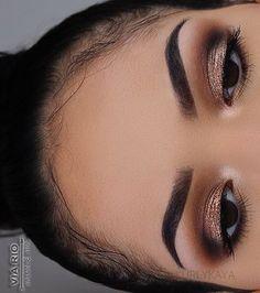 Brown neutral eye makeup