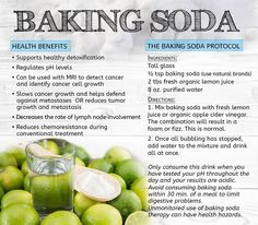 Baking soda is AMAZING! Here are the health benefits: Supports healthy detoxification, regulates pH levels, can be used with MRI to detect cancer, slows cancer growth, decreases the rate of lymph node involvement & reduces chemoresistance during conventional treatment! Click through to find out more! PLUS, the Baking Soda Protocol. Please re-pin to support us on our mission to educate, expose, and eradicate cancer! // The Truth About Cancer