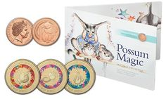 Possum Magic, Children's Book Week, Hush Hush, Childrens Books, Coins, Place Card Holders, Money, Space, Illustration