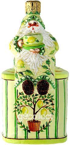 Tea Time Santa (Lemon) Patricia Breen Designs (Lemon Tree)